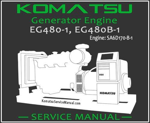 Komatsu Generator EG480-1 EG480B-1 Service Manual PDF
