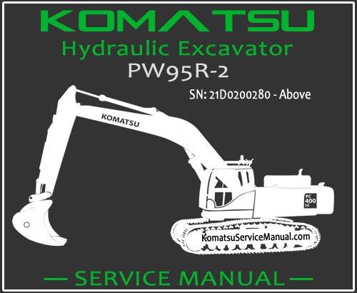 Komatsu PW95R-2 Hydraulic Excavator Service Repair Manual SN 21D0200280-Up