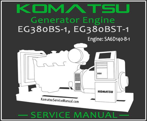 Komatsu Generator EG380BS-1 EG380BST-1 Service Manual PDF