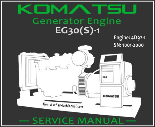 Komatsu Generator EG30S-1 Engine 4D92-1 Service Manual PDF SN 1001-2000